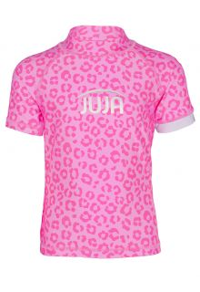 JUJA---UV-Swim-shirt-for-girls---short-sleeves---Leopard---Pink