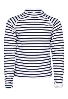 JUJA---UV-Swim-shirt-for-girls---longsleeve---Sailor---White/Blue