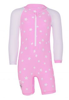 JUJA---UV-Swim-suit-for-babies---longsleeve---Stars---Pink