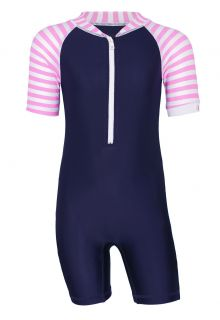 JUJA---UV-Swim-suit-for-babies---short-sleeves---Stripes---Darkblue