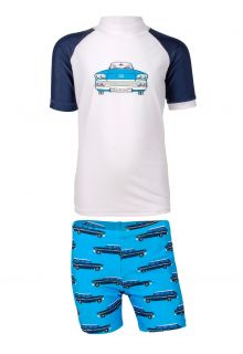 JUJA---UV-Swim-set-for-boys---Oldtimer---White/Blue
