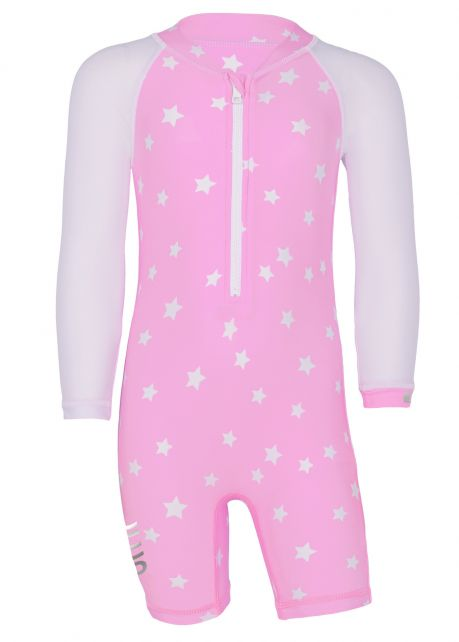 JUJA---UV-Swim-suit-for-babies---longsleeve---Stars---Pink
