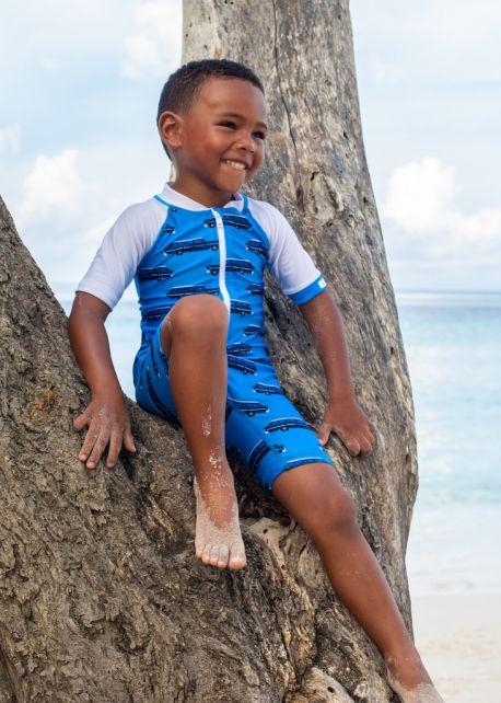 JUJA---UV-Swim-suit-for-babies---short-sleeves---Oldtimer---Lightblue