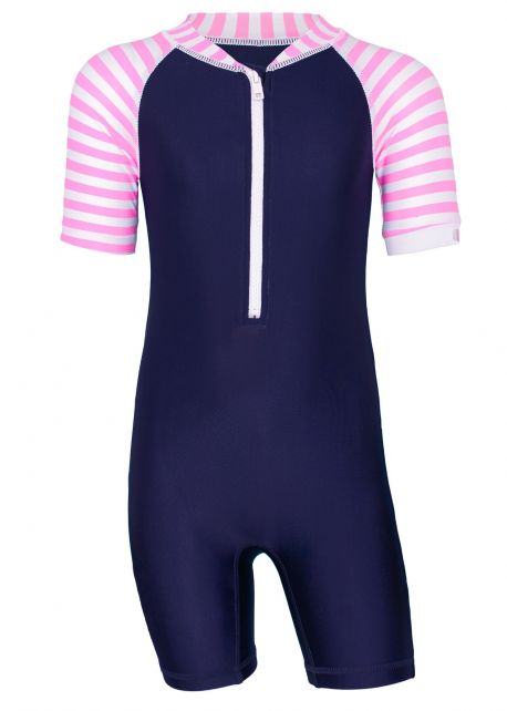 JUJA---UV-Swim-suit-for-babies---longsleeve---Stripy---Darkblue/Pink