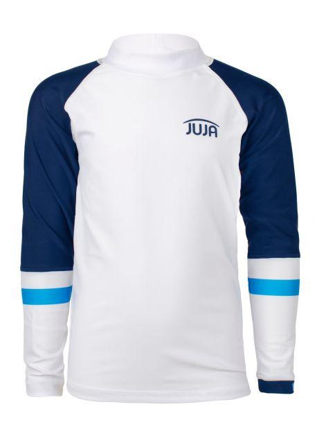 JUJA---UV-Swim-shirt-for-boys---longsleeve---Colorblock---White