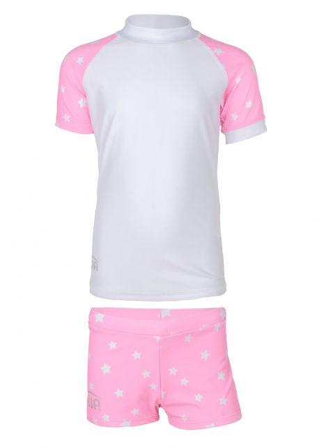 JUJA---UV-Swim-set-for-girls---Stars---White/Pink
