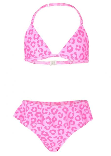 JUJA---Bikini-for-girls---Leopard-Ruches---Pink