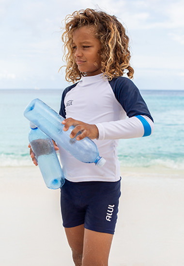 Recycled uv swimwear made from PET bottles for boys