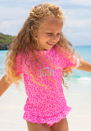 Recycled uv swimwear made from PET bottles for girls